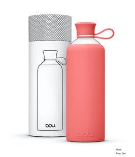 Trinkflasche von Doli - 550 ml Glas, verschiedene Farben
