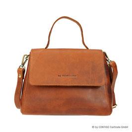 Handtasche CONTIGO Fairtrade Cognac