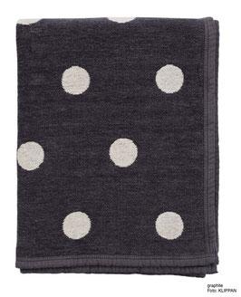 Decke KLIPPAN DOTS 100% Bio-Baumwolle - verschiedene Farben