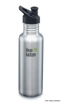 Trinkflasche Classic 800 ml mit Loop Cap von Klean Kanteen, verschiedene Farben