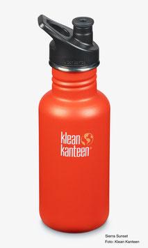 Trinkflasche Classic 532 ml mit Sport Cap von Klean Kanteen, verschiedene Farben