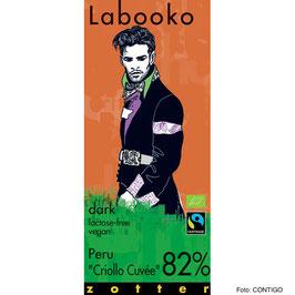 Bio-Schokolade 82% von zotter - Labooko Peru Criollo Blend