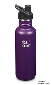 Trinkflasche Classic 800 ml mit Sport Cap von Klean Kanteen, verschiedene Farben