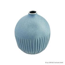 Vase Gugu S CONTIGO Fairtrade blau