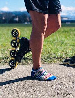 Sneaker-Socken von WILDSOCKS - Rainbow Bio-Baumwolle