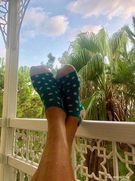 Sneaker-Socken von WILDSOCKS - Happy Points Bio-Baumwolle