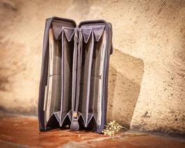 Brieftasche ZIPPER CONTIGO - Rindsleder (Damen)