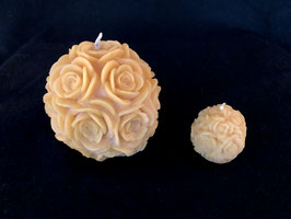 Rosenkugel, gross und klein, natur