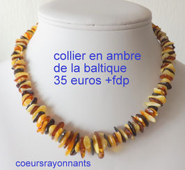 collier en ambre multicolore 3