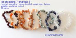 lot de bracelets 7 chakras 2