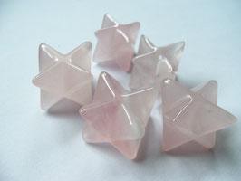 merkaba ( cristal de roche , quartz rose ou améthyste )