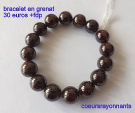 bracelet en grenat