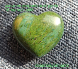 coeur en serpentine et pyrite