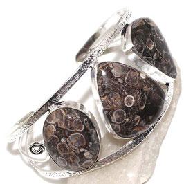 bracelet ajustable agate turitelle , plaqué argent 925