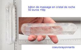 bâton de massage en cristal de roche 2
