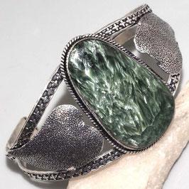 bracelet ajustable en séraphinite et plaqué argent 925 , 3