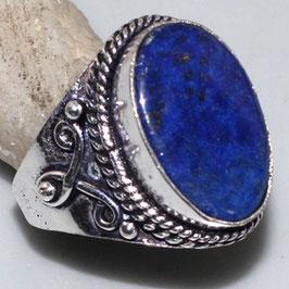 bague en lapis-lazuli et plaqué argent 925