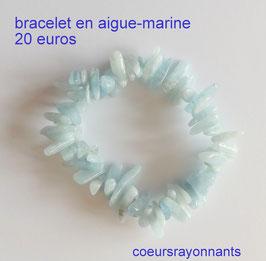 bracelet en Aigue-marine