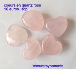 coeur en quartz rose (l'unité )