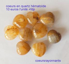 coeur en quartz hématoïde