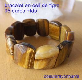 bracelet en oeil de tigre