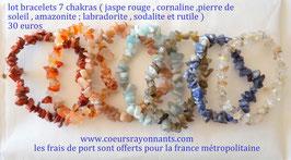 lot bracelets 7 chakras 1