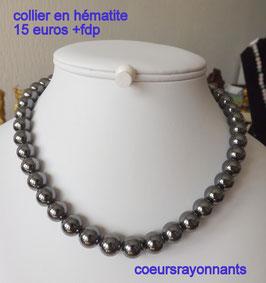 collier en hématite 1