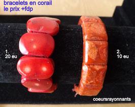 bracelet corail teinté