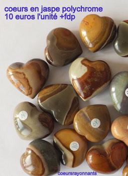 coeur en jaspe polychrome