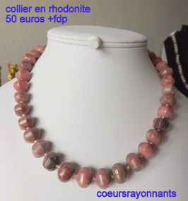 collier en rhodonite
