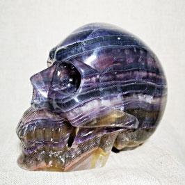 Très beau crâne en fluorite multicolore de 2767 gr