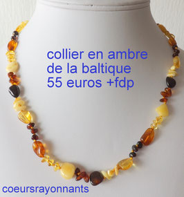 collier multicolore en ambre de la baltique 1