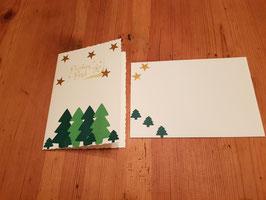 Weihnachtskarte Tannenbäumchen