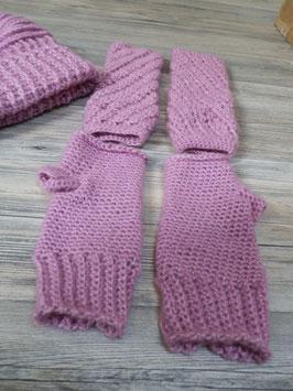 Pulswärmer in rosa
