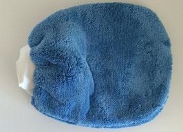 Microfaser Pflegehandschuh Blau