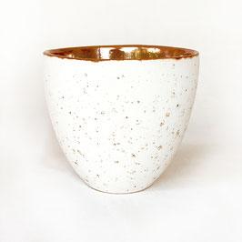 Tasse Crème Weiß und Gold