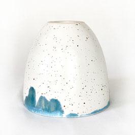 Tasse Crème Weiß mit Blaugrün