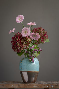 Vase Türkis-Rotgold