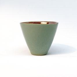 Espressotasse Moosgrün Gold