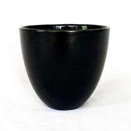 Tasse Schwarz matt außen, Innen glänzend
