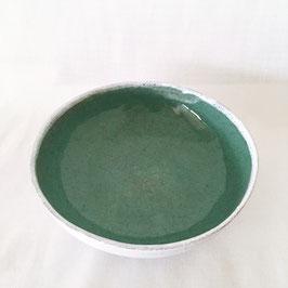 Tiefe Teller Kupfergrün
