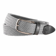 elastischer Textilgürtel grau