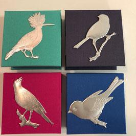 Zettelblock 9 x 9 cm, Vögel