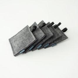 lavendelkissen 'smilla'  dunkelgrau schwarz 5 Stück