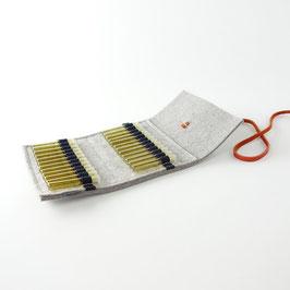 Taschen-Apotheke für Globuli 'samuel' 24   hellgrau_orange