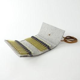 Taschen-Apotheke für Globuli 'samuel' 24   hellgrau_hellbraun