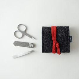 mini-maniküre-set 'ella' anthrazit_rot