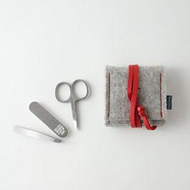 mini-maniküre-set 'ella' hellgrau_rot