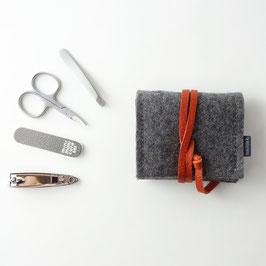 mini-maniküre-set 'jacob' dunkelgrau_orange