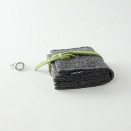 schmucknest klein 'margarete'_dunkelgrau_grün